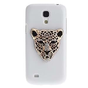 LZX Iron Leopard Pattern Plastic White Hard Back Case for Samsung Galaxy S4 Mini i9190 , Silver