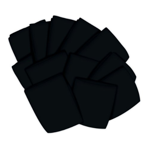 SheetWorld 12 Pack Fitted Pack N Play (Graco) Sheets 27'' x 39'' - Solid Black Jersey Knit - Made In USA by sheetworld