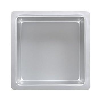 PME Molde para Pasteles Cuadrado de Aluminio Anodizado Profundidad de 8 x 8 x 3-Pulgadas: Amazon.es: Hogar