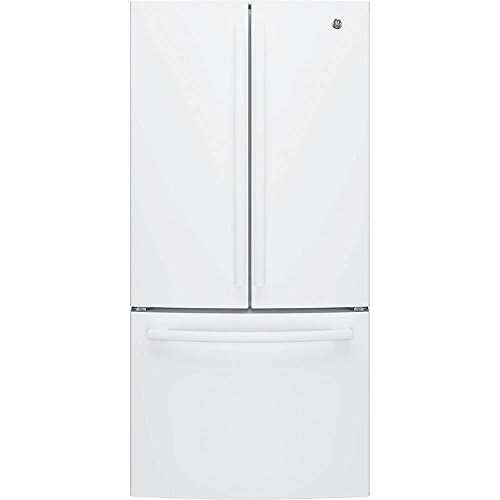 GE FRENCH DOOR 24.8 CU FT REFRIGERATOR HIGH GLOSS WHITE GNE2
