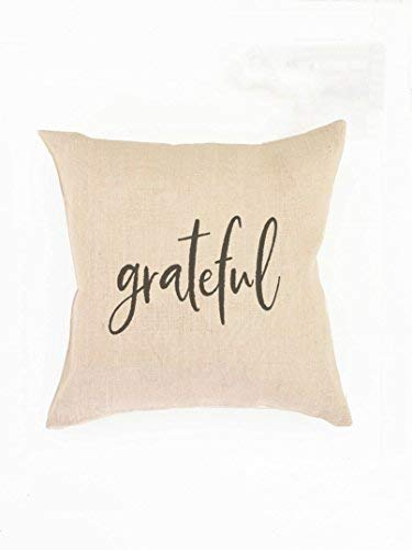alerie Sassoon Grateful Pillow Cover Christian Gift Mom Grateful Heart Grateful Thankful Blessed Pillow Covers Calligraphy Pillow Cover Gift Wife Pillow Cover