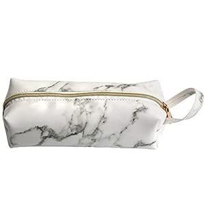 Makeup Bag Onkessy Marble Makeup Bags Smooth Waterproof Portable Cosmetic Bag Makeup For Women Girls Men