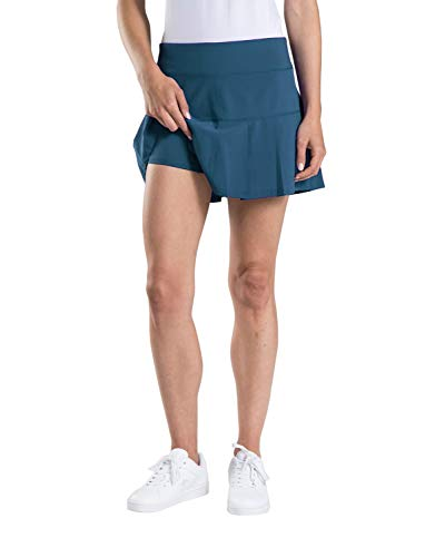 Etonic Women's Stretch Woven Performance Tennis Skort Skirts for Women (Medium, Teal) -