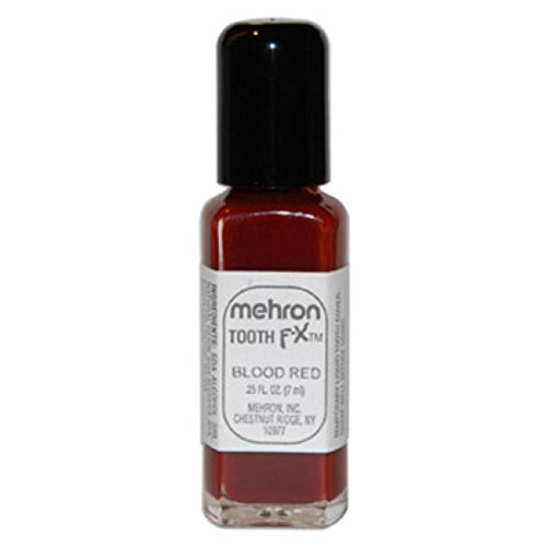Mehron Professional Tooth FX Special Effects Makeup, Blood Red 0.25 -