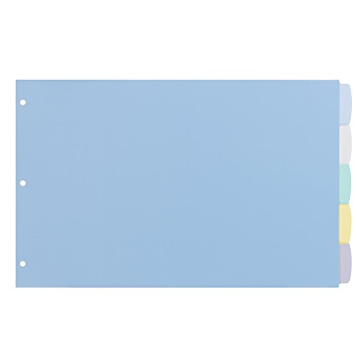 Avery Durable Write-On Plastic Dividers, 11 x 17 Inches, 5-Tab Set, 1 Set (16131) for sale