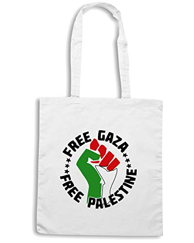 LIBERA PALESTINA GAZA Shopper LIBRE Shirt Bianca TM0570 Speed Borsa 70wqp1