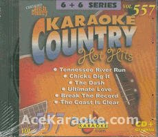 Karaoke Music CDG: Chartbuster Karaoke 6X6 CDG CB20557 - Country Hot Hits Male September 2003 ()