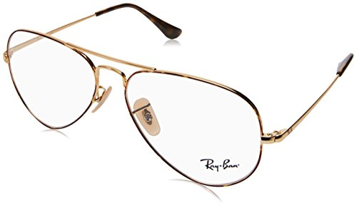 Ray-Ban RX 6489 2945 Eyeglasses Gold Top on - Ban Eyeglasses Aviator Ray