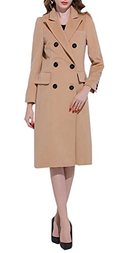 Betusline Women Clothes Camel Wool Blazer 2019