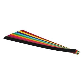 farbig sortiert B 10 x 500 mm L folia Flechtstreifen