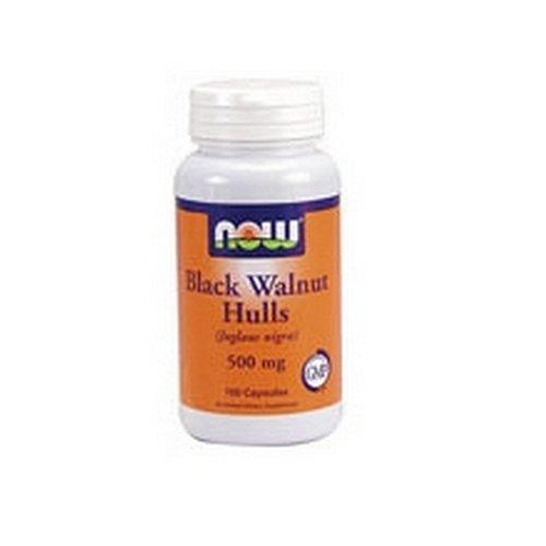 Now Foods Black Walnut Hulls, 500 mg, 100 Veg Capsules