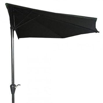 Palm Springs 9ft Aluminium Outdoor Patio Half Umbrella Garden Parasol Green