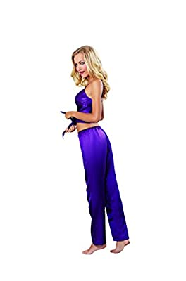 Dreamgirl Women's Sexy Satin Loungewear Camisole and Low-Rise Pant