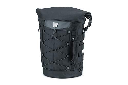 Kuryakyn 5223 Momentum Deadbeat Expandable Motorcycle Travel Luggage: Weather Resistant Duffle Bag with Sissy Bar Straps, Black