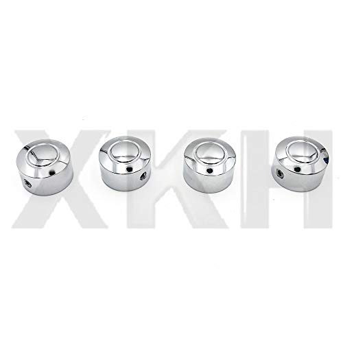 Bolt Covers Head Harley - SMT- Replacement of 4PCS Bolts Toppers Caps Cover Chrome for Harley 08-13 XR XL Twin Cam Dyna