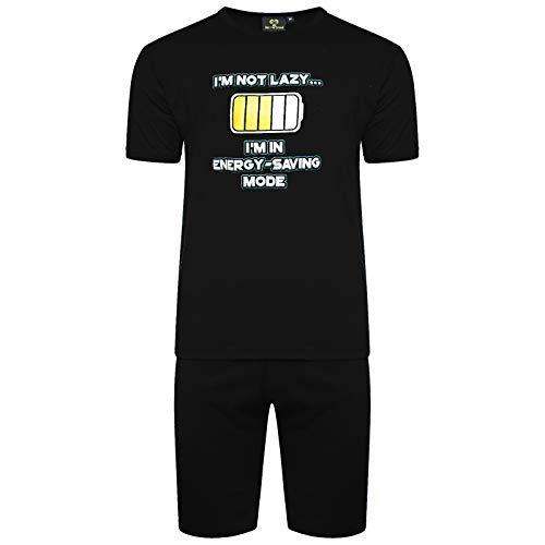 Abbigliamento Libero Notte Energy Get Uomo Originale Pantaloni Nero trend Tshirt the Tempo Stampata Da Tipi Pigiama Set Maglia zUVqMpSG