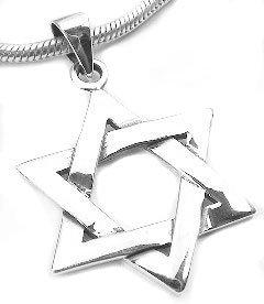 Sterling Silver Jewish Star of David Charm Pendant (Star Of David Silver Pendant)