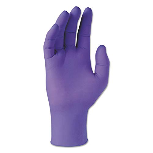 Kimberly-Clark Professional 55081 PURPLE NITRILE Exam Gloves, 242 mm Length, Small, Purple (Box of 100)