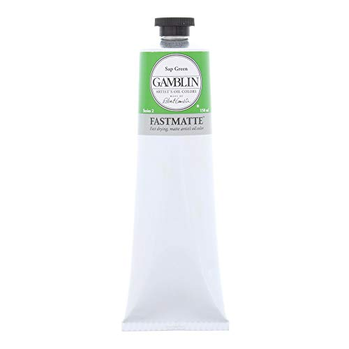 Gamblin Artist Paint, FastMatte Alkyd Colors, Fast Drying Oil Paint, Sap Green, 150ml Tube ()
