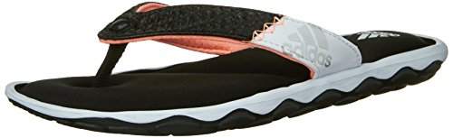 Adidas Fit Foam (adidas Performance Women's Anyanda Flex W Athletic Sandal,Black/White/Silver,9 M)