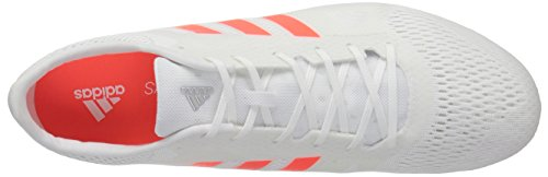 Adidas Adizero Md Track Sko Hvid / Infrarød / Metallic / Sølv 77QWT0185