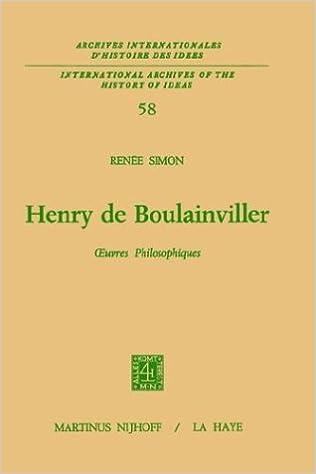 Livres Henry De Boulainviller Tome I, Oeuvres Philosophiques pdf, epub ebook