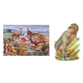 T-rex Floor Puzzle - Dinosaurs and T-Rex Extra Large Floor Puzzle-2 Pack Bundle