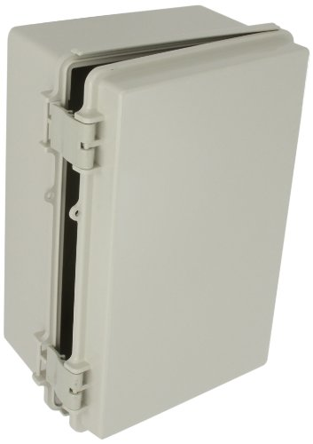 BUD Industries NBF-32016 Plastic ABS NEMA Economy Box - Electrical Box for Indoor Uses - Industrial Box in Light Grey Finish with Solid Door Construction. Conduit and Fittings