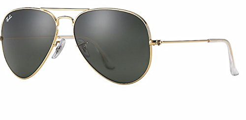 Ray-Ban RB 3025 Aviator Arista Gold w/ Gray Green (G-15) Lens - Ray Ban 55 Aviator 14