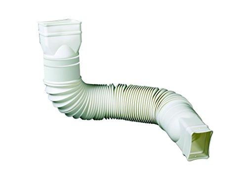 Flex-Drain 85010 Downspout Extension, White