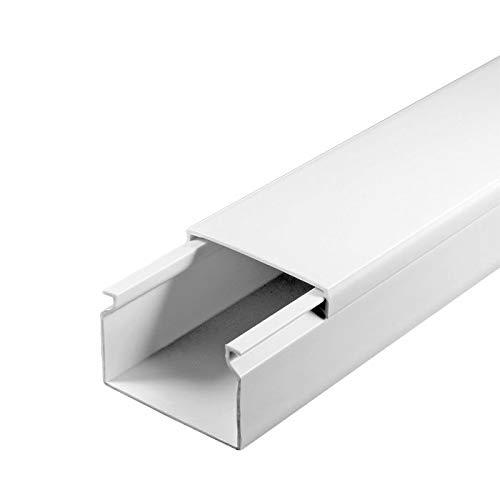 SCOS Smartcosat SCOSKK23 2 m Kabelkanal wei/ß L x B x H 2000 x 40 x 25 mm, PVC, Kabelleiste, Schraubbar