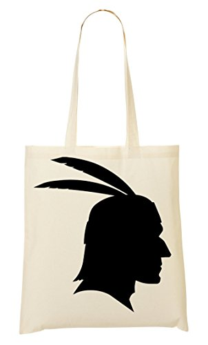 Tribal Indian Chieftain Head Feathers Graphic Bolso De Mano Bolsa De La Compra
