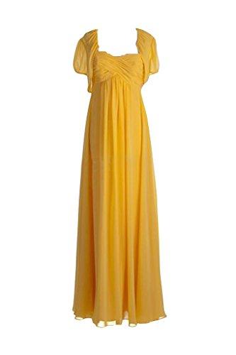 Por la noche simplemente Empire Bolero Toscana novia vestidos de Gasa de balón largo embarazo adhesivas