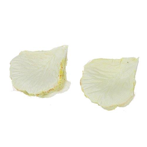 SODIAL(R) Ivoire Soie Rose Petales - Sac de 200 petales