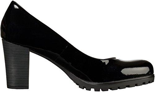 Caprice 9-22400-27 femmes noir cuir Escarpin, EU 37,5