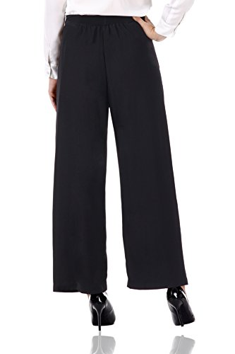 Miss Chase Womenu0026#39;s Black Poly-Cotton Formal Pants - Import It All