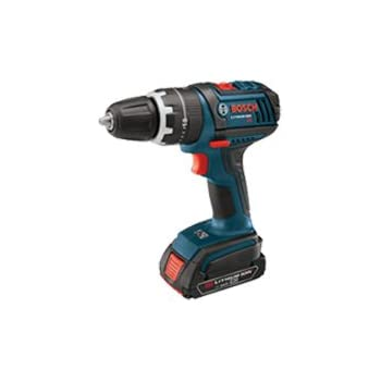 Bosch HDS181-03 18-Volt Lithium-Ion 1/2-Inch Compact Tough Hammer Drill/Driver Kit with 2 Batteries, Charger and Case