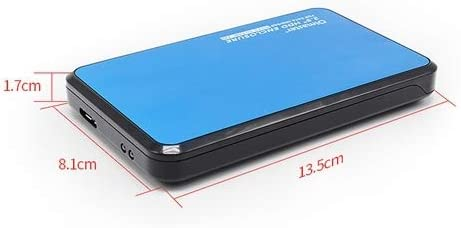 Color : Red EB-2506U3 SATA USB 3.0 Interface Aluminum Panel HDD Enclosure for Laptops Support Thickness 7.0-12.5mm