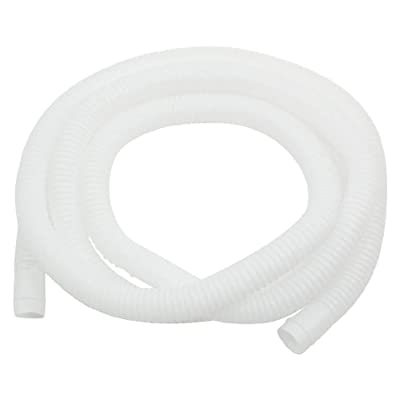 Plastic Drain Hose Pipe for Air Conditioner 2M 16mm x 17mm White