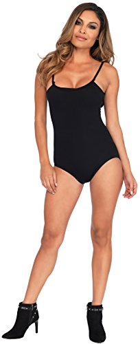 UHC Women's Sexy Basic Bodysuit Funny Theme Skinsuit Halloween Fancy Costume, Black, M/L (Black Skinsuit)
