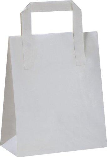 Cinta mango plano bolsas, 17 cm de ancho de color blanco de ...