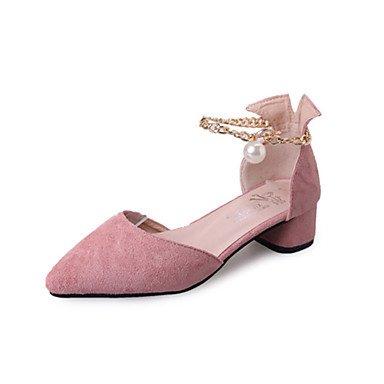 1in Buckle 3 1 Walking Black Spring Blushing UK3 CN35 PU US5 Comfort Pink Outdoor 5 Chunky Heel Heel Women'sSandals Comfort 4in 5 Almond Block EU36 xYTpZZ