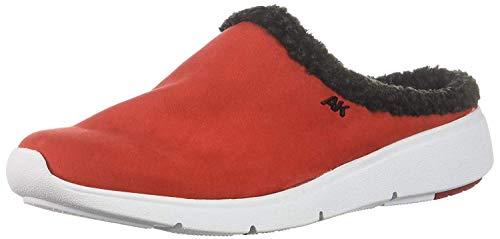 (Anne Klein AK Sport Women's Teaser Sneaker Mule Slipper red/Multi 10 M US)