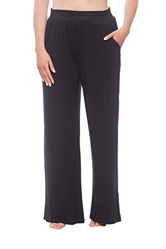 New York & Company Women's Knit Lounge Pant with pockets Black L