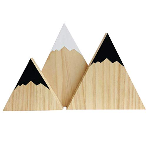 - Wingbind Mountain Style Triangle Shaped Blocks,Nordic Style Wooden Handmade Craft,Home Bedroom/Party/Wedding/Birthday/Nursery/Cradle/Baby Shower Decoration