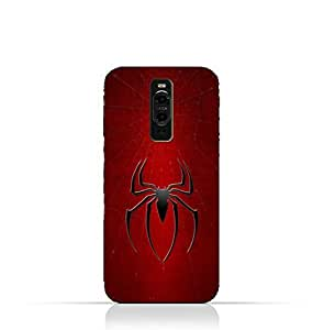 Huawei Mate 9 Pro TPU Silicone Protective Case with Spider Man Logo Design