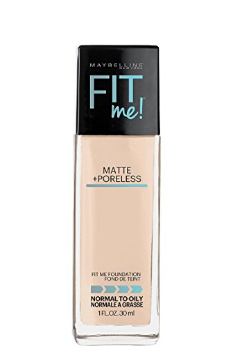 Maybelline Fit Me Matte + Poreless Liquid Foundation Makeup, Fair Porcelain, 1 fl. oz. (Fair Matte)