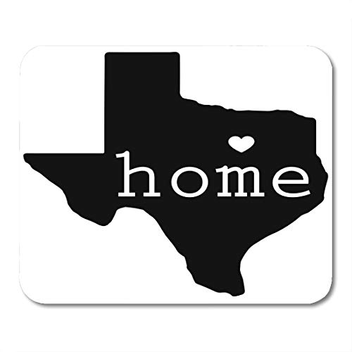 (Emvency Mouse Pads Blue Shape Home State of Texas Red Dallas Southern Star Texan Border Mousepad 9.5