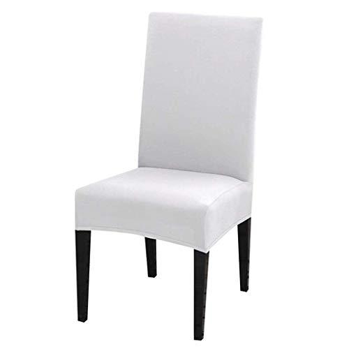 Dioxide Fundas para Sillas Pack de 4 Fundas Sillas Comedor, Fundas Elasticas Chair Covers Lavables Desmontables Cubiertas para Sillas Muy Facil de Limpiar Duradera(Blanco,Paquete de 4)