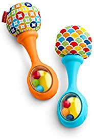 Fisher-Price Rattle 'n Rock Maracas, Blue/Orange [Amazon Exclus